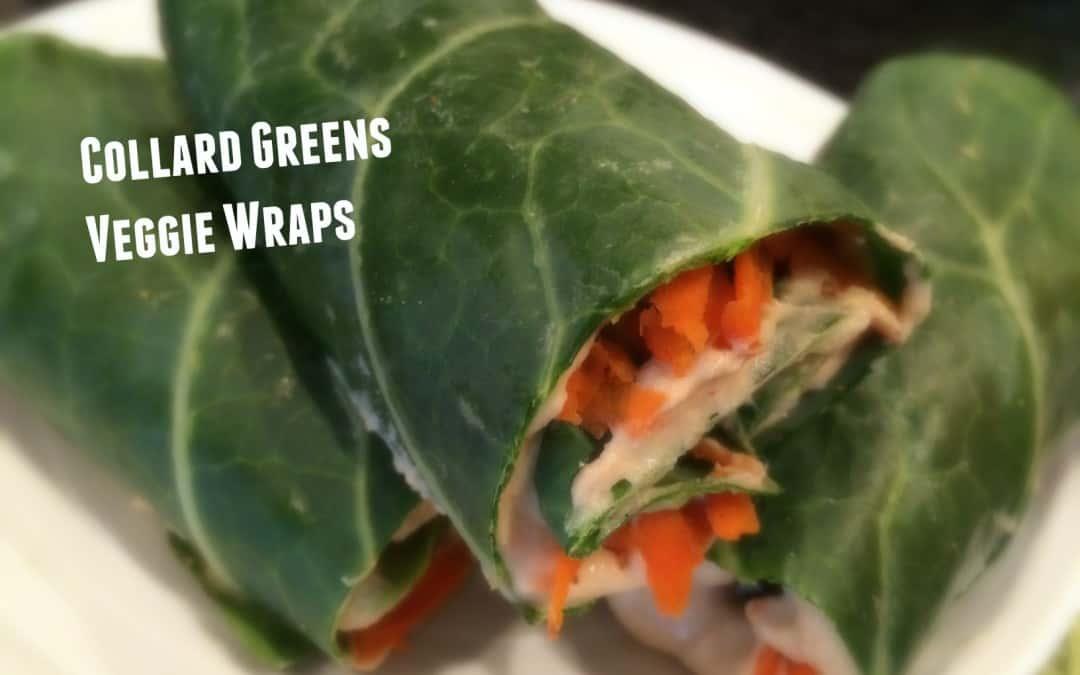 Collard Greens Veggie Wrap