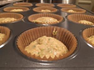 Nut Free Zucchini Muffins in Tins