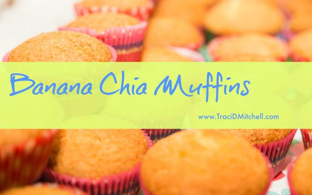 Gluten Free Banana Chia Muffins