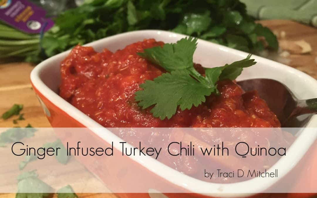 Detoxifying Ginger Infused Turkey Chili with Quinoa