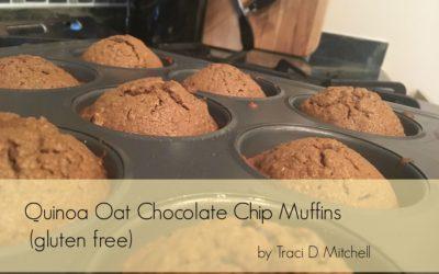 Quinoa Oat Chocolate Chip Muffins (Gluten Free)