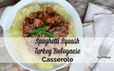 Spaghetti Squash Turkey Bolognese Casserole