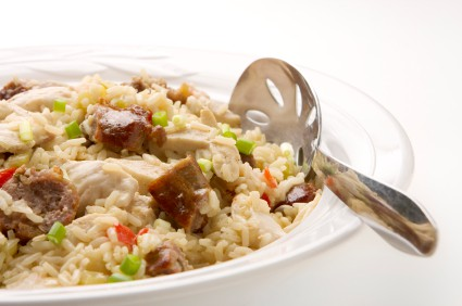 A Healthy and Mild Fat Tuesday Jambalaya