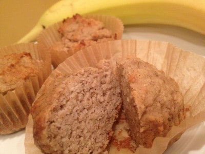 Banana Cinnamon Muffins: Clean, No Sugar Added and Grain Free