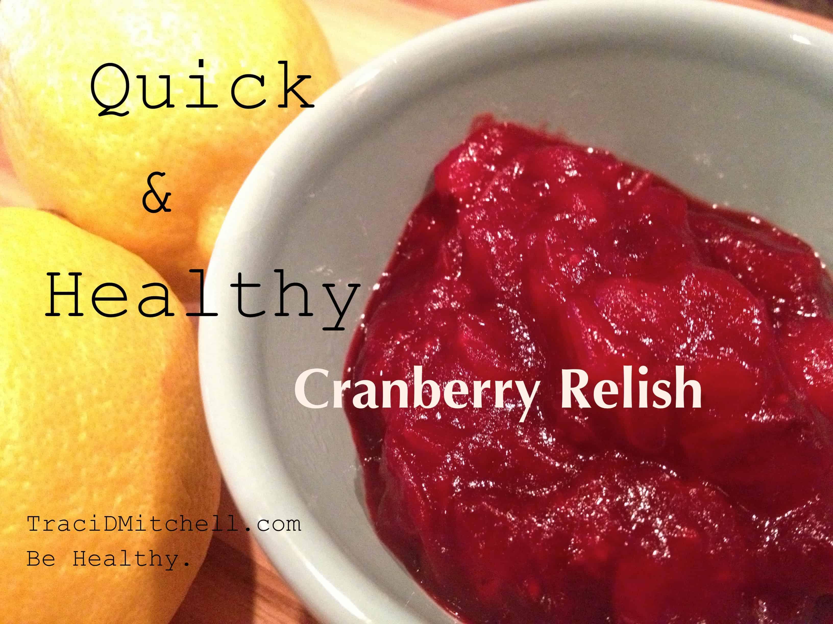 Healthy Cranberry Relish