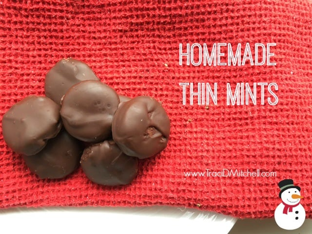 Homemade Thin Mint Cookies: Gluten Free & Dairy Free