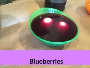 Blueberry food coloring dye