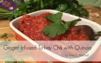 Detoxifying Ginger Infused Turkey Chili with Quinoa