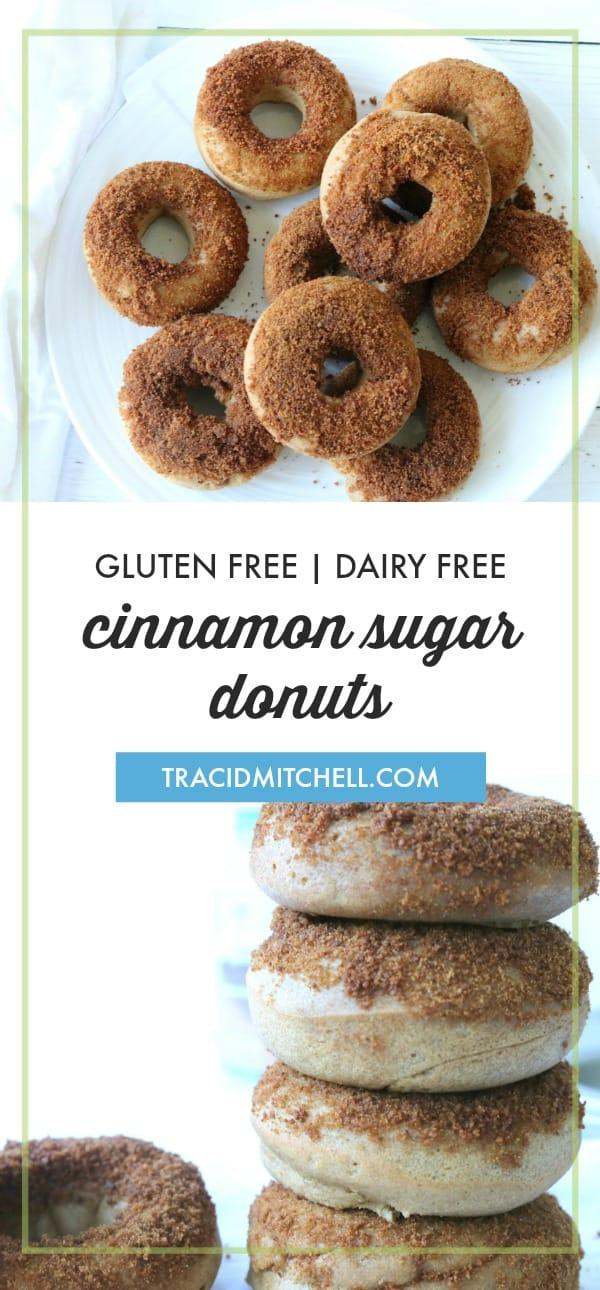 Cinnamon Sugar Donuts baked gluten free