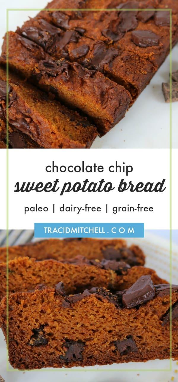 Paleo Chocolate Sweet Potato Bread